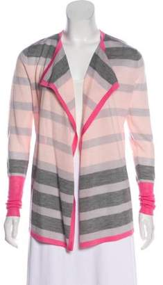 Clements Ribeiro Wool-Blend Knit Cardigan Pink Wool-Blend Knit Cardigan