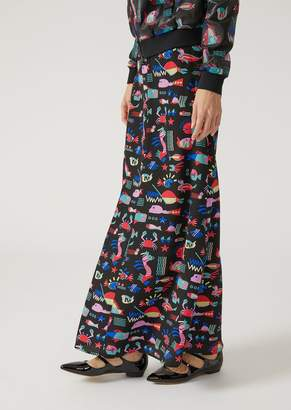 Emporio Armani CrePe De Chine Silk Skirt