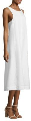 Eileen Fisher Organic Linen Midi Dress $338 thestylecure.com