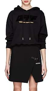 Off-White Women's Modern Obstacles Cotton Terry Hoodie - Black