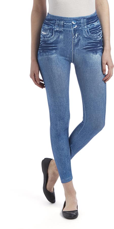 Navy Jean-Print Legging