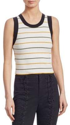 A.L.C. Rita Striped Sleeveless Knit Top