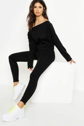 boohoo Cotton Elastane High Wasited Leggings