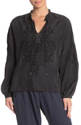 Go Silk Go by Holier Than Thou Eyelet Silk Blouse