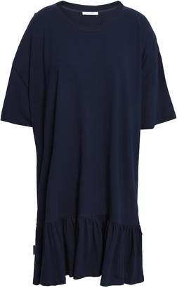 Ninety Percent Ruffled Melange Cotton-jersey Mini Dress