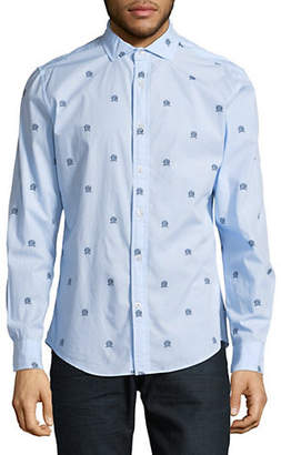 Tommy Hilfiger Baldwin Winners Crest Cotton Sport Shirt