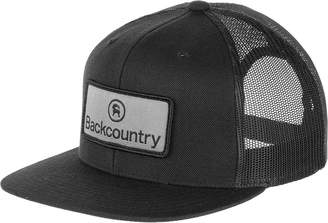 Backcountry Logo Patch Flat Brim Trucker Hat