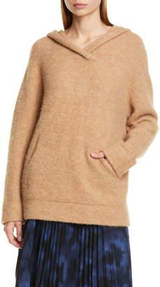 Vince Oversize Hooded Wool & Alpaca Sweater