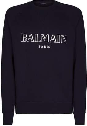 Balmain Metallic Logo Sweatshirt