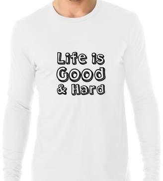 Life is Good Hollywood Thread & Hard - Life Mantra Men's Long Sleeve T-Shirt