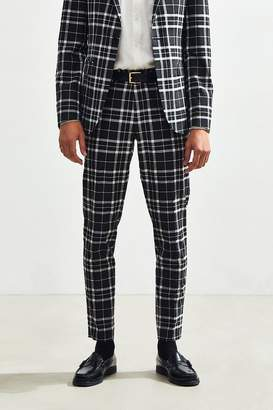 Urban Outfitters Plaid Skinny Fit Suit Pant