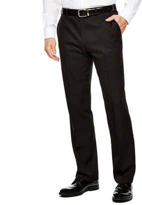 Van Heusen Men's Straight-Leg Traveler Flat-Front Chevron Dress Pants