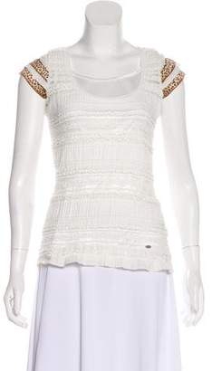 Just Cavalli Ruffled Short Sleeve Top