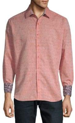 Robert Graham Cosner Printed Cotton Button-Down Shirt