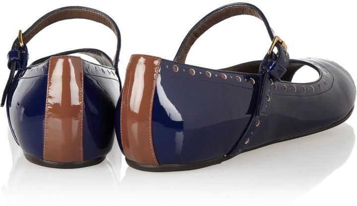 Marni Patent-leather Mary Jane flats