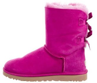 UGG Australia Bailey Bow Ankle Boots $125 thestylecure.com