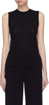 Theory Crossover back pointelle knit sleeveless top