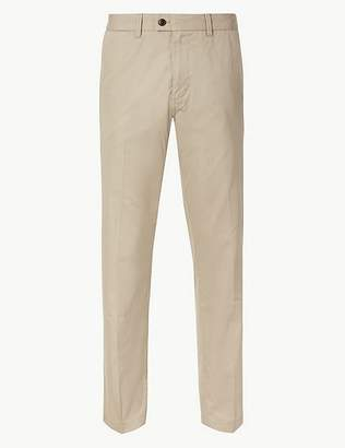 Marks and Spencer Regular Fit Cotton Rich Chinos