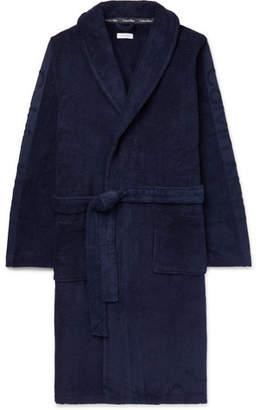 Calvin Klein Underwear Logo-Jacquard Cotton-Terry Hooded Robe