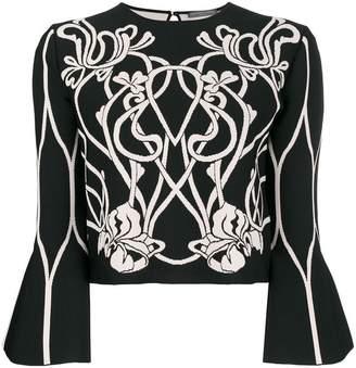 Alexander McQueen baroque floral knit top