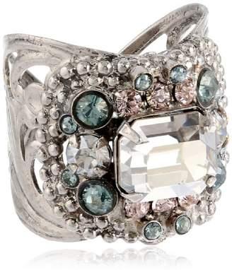"Sorrelli Crystal Rock"" Studded Crystal Band Ring"