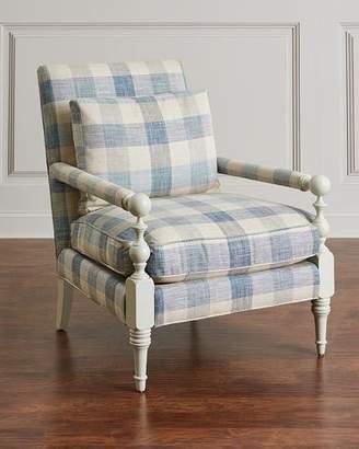 John-Richard Collection Buffalo Plaid Transitional Chair