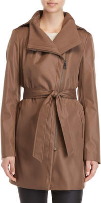 Calvin Klein Hooded Belted Longline Jacket