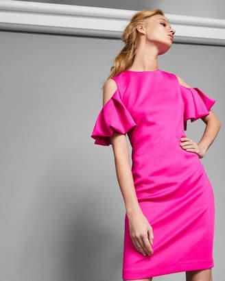 Ted Baker SALNIE Dramatic cold shoulder dress