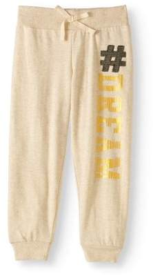 """ONE STEP UP Girls' """"Get Your Jogger On"""" Slub French Terry Jogger Pants With Shiny Applique"""
