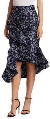 Johanna Ortiz Belladonna Jacquard Midi Skirt