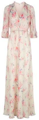 Vilshenko Ariana Floral Gown
