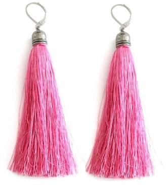 Malia Jewelry Pink Tassel Earrings