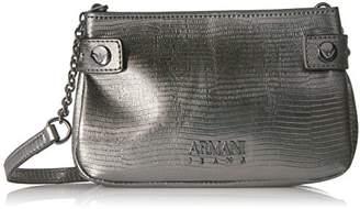 Armani Jeans Metallic Python Print Sling Bag