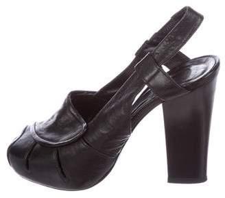 Chloé Leather Slingback Pumps