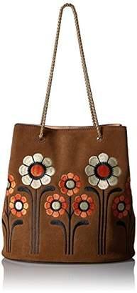 Orla Kiely Suede Embroidery Posy Bag