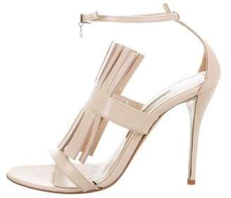Oscar de la Renta Fringe Ankle Strap Sandals