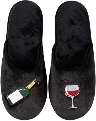 INC International Concepts I.n.c. Beverage Icon Velour Slippers, Created for Macy's