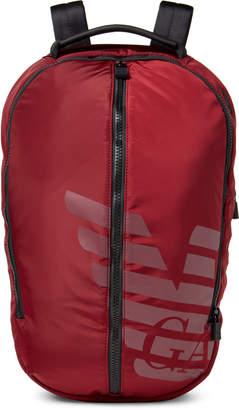 Emporio Armani Red Zaino Laptop Nylon Backpack