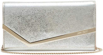 Jimmy Choo Emmie Metallic Leather Clutch