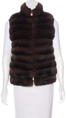 Loro Piana Horizontal Chinchilla Vest