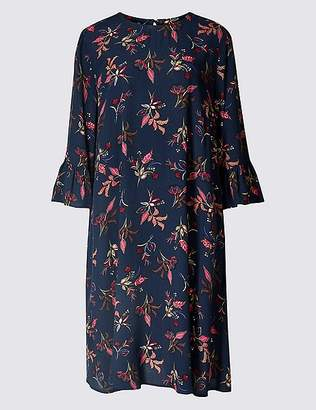 Marks and Spencer Printed 3/4 Sleeve Swing Dress