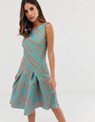 Closet Flared Dress Shopstyle Uk