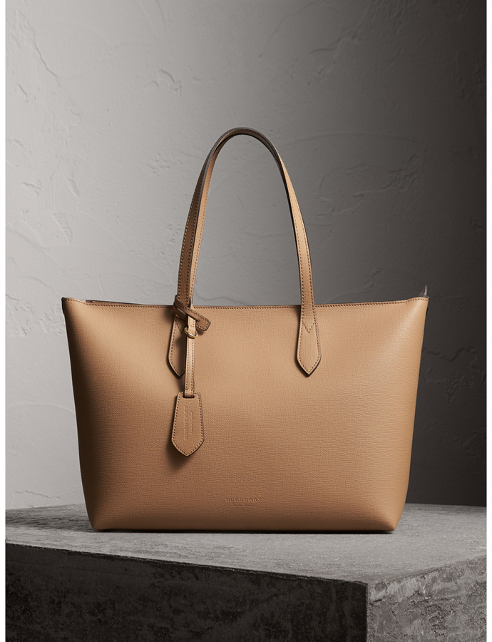Burberry Medium Coated Leather Tote