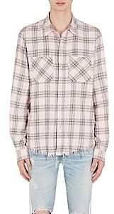 Amiri Men's Faded Plaid Cotton-Cashmere Flannel Shirt