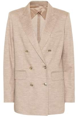 Max Mara Dacia wool and cotton blazer