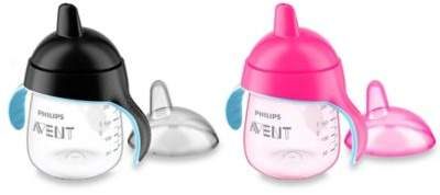 Philips Avent My Penguin 2-Pack 9 oz. Sippy Cup in Pink/Black