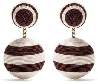 Rebecca De Ravenel - Pepper Drop Earrings - Womens - Brown Multi