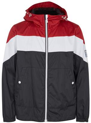 Moncler Gamme Bleu Colour-block Hooded Shell Jacket