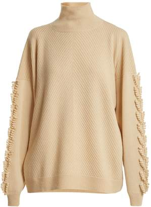 BARRIE Troisieme Dimension roll-neck cashmere sweater