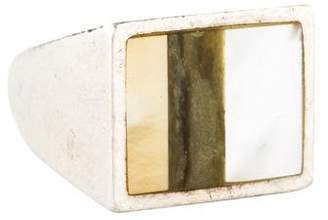 Reed Krakoff Mother of Pearl & Nephrite Signet Ring